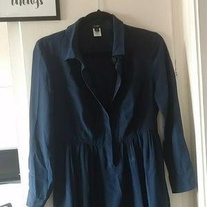 J. Crew petite Blythe Shirtdress Silk lined 6p